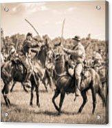 Gettysburg Cavalry Battle 7978s  Acrylic Print