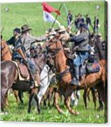 Gettysburg Cavalry Battle 8021c  Acrylic Print