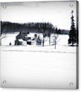 Gettysburg Farm In Winter Acrylic Print