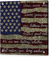 Gettysburg Homage Flag Acrylic Print