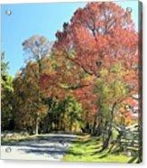 Gettysburg  In The  Fall Acrylic Print