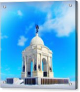 Gettysburg Memorial In Winter Acrylic Print