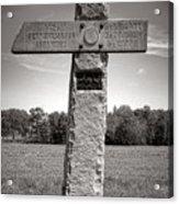 Gettysburg National Park 142nd Pennsylvania Infantry Monument Acrylic Print