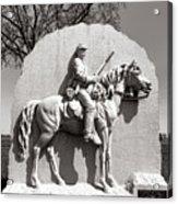 Gettysburg National Park 17th Pennsylvania Cavalry Monument Acrylic Print