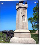 Gettysburg National Park 2nd Maine Battery Memorial Acrylic Print