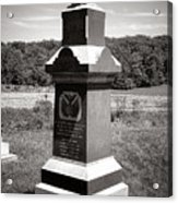 Gettysburg National Park 6th Wisconsin Iron Brigade Monument Acrylic Print