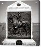 Gettysburg National Park 9th New York Cavalry Monument Acrylic Print
