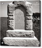 Gettysburg National Park Third West Virginia Cavalry Monument Acrylic Print