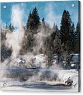 Geyser Trail Acrylic Print