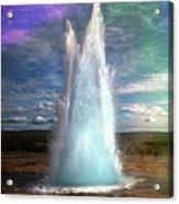 The Great Geysir - Iceland Acrylic Print