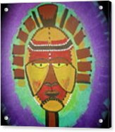 Ghana Mask Acrylic Print