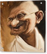 Ghandi Acrylic Print by Court Jones