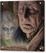 Ghost In The Book Acrylic Print