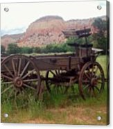 Ghost Ranch Wagon Acrylic Print