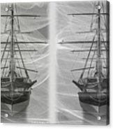 Ghost Ship - Gently Cross Your Eyes And Focus On The Middle Image Acrylic Print