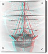 Ghost Ship - Use Red-cyan 3d Glasses Acrylic Print
