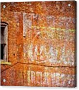 Ghost Sign Acrylic Print