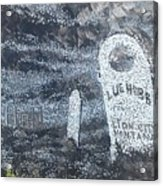 Ghost Town Boot Hill Acrylic Print