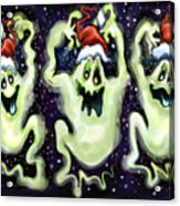 Ghostly Christmas Trio Acrylic Print