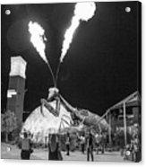 Giant Flamethrowing Praying Mantis Acrylic Print