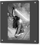 Giant With A Flaming Sword Acrylic Print