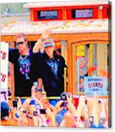 Giants 2010 Champions Parade 2 . Photo Artwork Acrylic Print by Wingsdomain Art and Photography