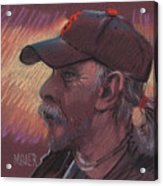 Giants Fan Acrylic Print by Donald Maier