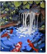 Gibb's Garden Stream Acrylic Print