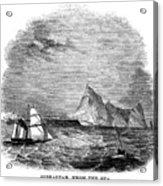 Gibraltar, 1843 Acrylic Print
