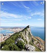 Gibraltar Rock Bay And Town Acrylic Print
