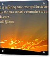 Gibran On The Character Of The Soul Acrylic Print