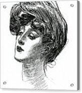 Gibson Girl 1902 Acrylic Print