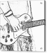 Gibson Les Paul Guitar Sketch Acrylic Print