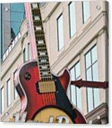 Gibson Les Paul Of The Hard Rock Cafe Acrylic Print