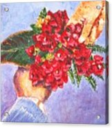Gift A Bouquet - Bougenvillea Acrylic Print