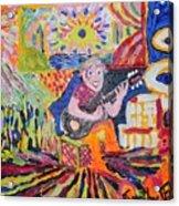 Gifted Guitar Man Acrylic Print