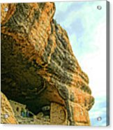 Gila Cliff Dwellings Looking Up Acrylic Print