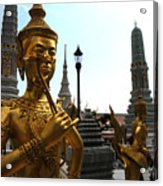 Gilded Statues Of Gods At The Grand Acrylic Print