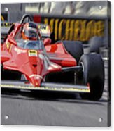 Gilles At Long Beach Acrylic Print by Mike Flynn