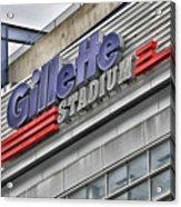 Gillette Stadium Sign Acrylic Print
