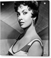Gina Lollobrigida, Ca. Late 1950s Acrylic Print by Everett