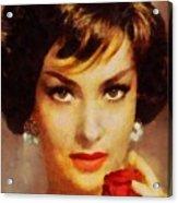Gina Lollobrigida, Vintage Hollywood Actress Acrylic Print
