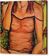 Gina The Smoking Woman Acrylic Print