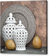 Ginger Jar With Pears II Acrylic Print