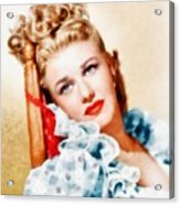Ginger Rogers By John Springfield Acrylic Print