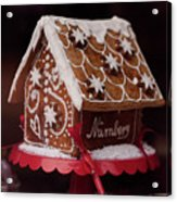 Gingerbread House Acrylic Print