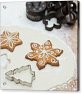 Gingerbread Making - Christmas Preparing With Vintage Kitchen Tools Acrylic Print