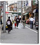 Gion District Street Scene Kyoto Japan Acrylic Print
