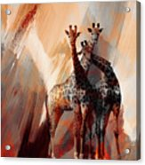 Giraffe Abstract Art 002 Acrylic Print