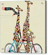 Giraffe Days Lets Tandem Acrylic Print